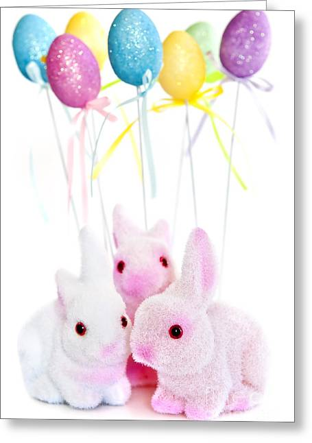 Hare Greeting Cards - Easter bunny toys Greeting Card by Elena Elisseeva