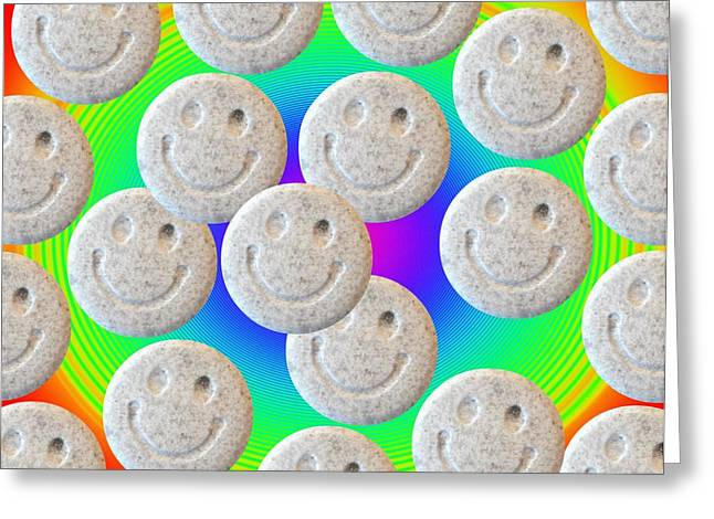 Drug House Greeting Cards - Ecstasy Greeting Card by Victor De Schwanberg