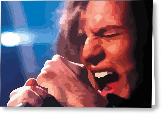 Recently Sold -  - Jeremy Greeting Cards - Eddie Vedder Greeting Card by Gordon Dean II