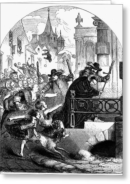 Guard Dog Greeting Cards - Edinburgh: Riot, 1637 Greeting Card by Granger