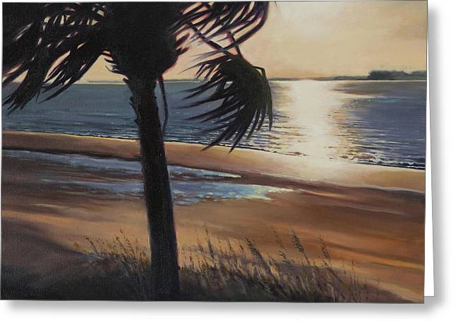 Palmetto Trees Greeting Cards - Edisto Sunset Greeting Card by Todd Baxter