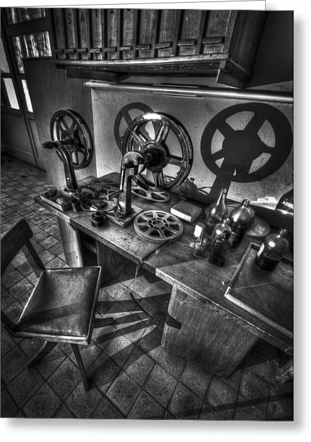 Eerie Greeting Cards - Editors seat Greeting Card by Nathan Wright