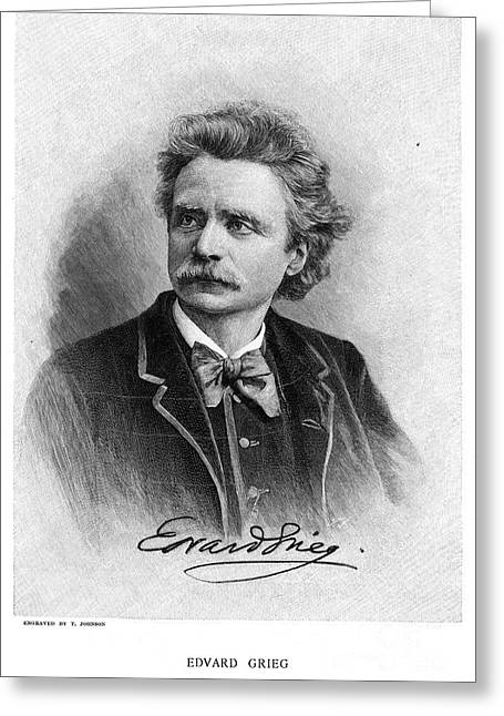 Bowtie Greeting Cards - Edvard Grieg (1843-1907) Greeting Card by Granger
