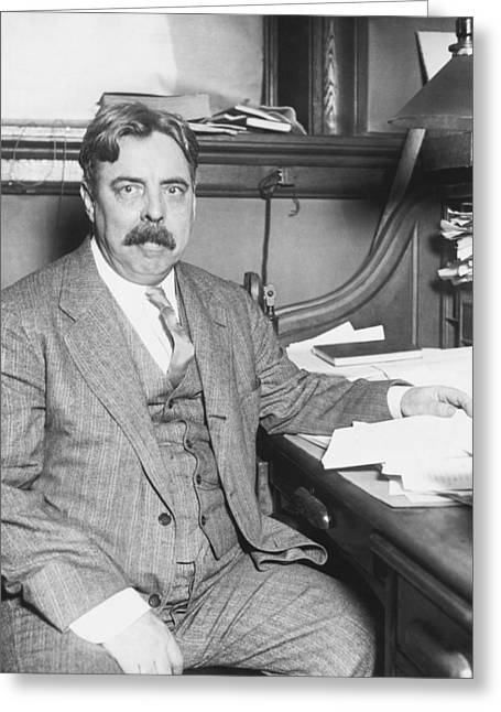 Surname T Greeting Cards - Edward Thorndike, American Psychologist Greeting Card by Humanities And Social Sciences Librarynew York Public Library