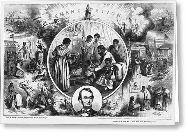 Nast Greeting Cards - Effects Of Emancipation Proclamation Greeting Card by Photo Researchers