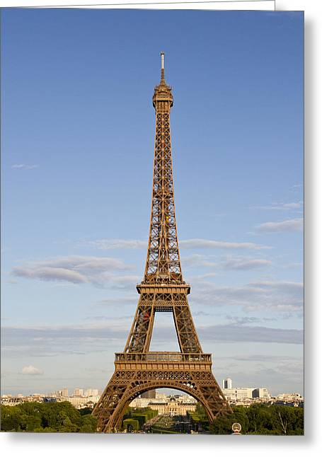 Champs Photographs Greeting Cards - Eiffel Tower Greeting Card by Melanie Viola
