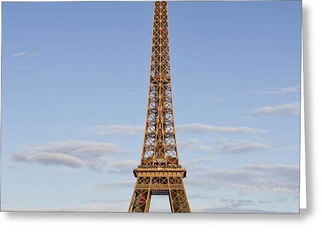 Eiffel Tower Greeting Card by Melanie Viola