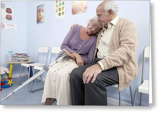 Crutches Greeting Cards - Elderly Patients Greeting Card by Adam Gault