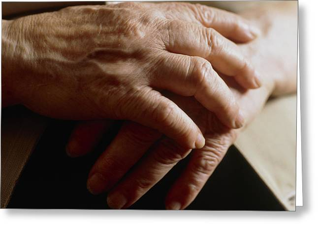 Elderly Hands Greeting Cards - Elderly Womans Hands Greeting Card by Cristina Pedrazzini