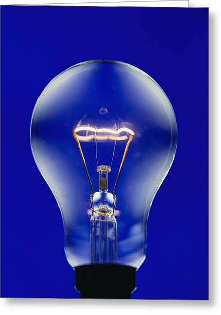 Electric Light Bulb Greeting Card by Lawrence Lawry