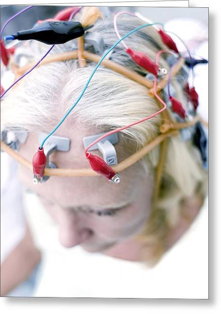 55-59 Years Greeting Cards - Electroencephalography Greeting Card by