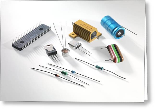 Component Greeting Cards - Electronic Components Greeting Card by Tek Image