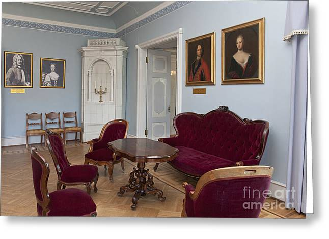 Coffee Table Couch Greeting Cards - Elegant Seating in a Manor Greeting Card by Jaak Nilson