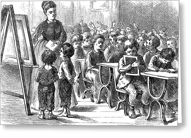 Elementary School, 1873 Greeting Card by Granger