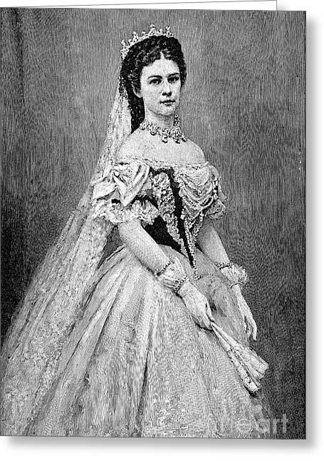 1880s Greeting Cards - Elisabeth Of Austria Greeting Card by Granger