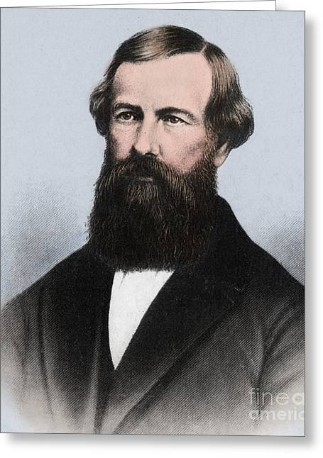 Elisha Graves Greeting Cards - Elisha Graves Otis Greeting Card by Science Source