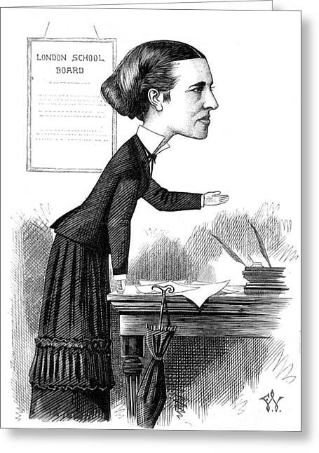 Co-founder Greeting Cards - Elizabeth Garrett Anderson, English Greeting Card by Science Source