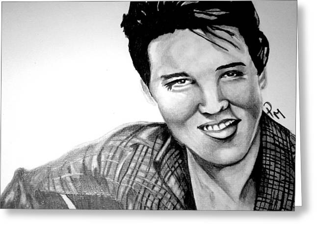 Elvis Presley  Greeting Card by Pauline Murphy