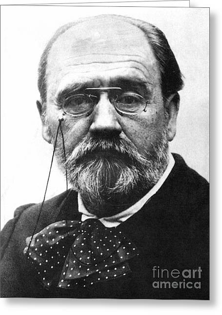Zola Greeting Cards - Emile Zola (1840-1902) Greeting Card by Granger