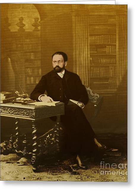 Zola Greeting Cards - Emile Zola 1840-1902 Novelist Greeting Card by Photo Researchers