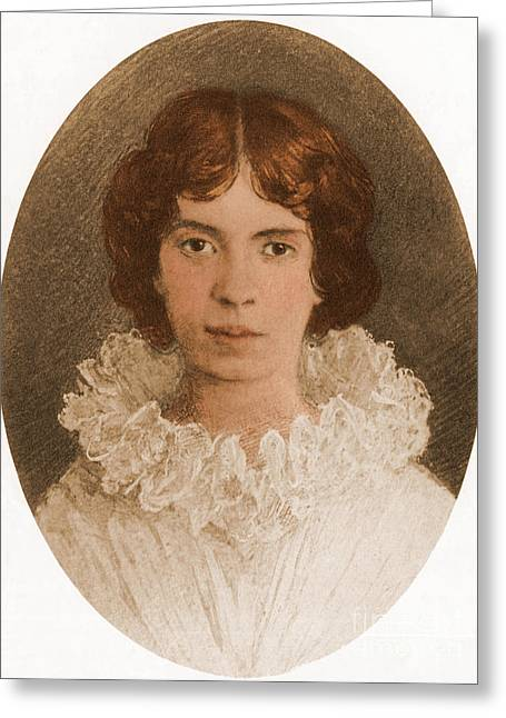 Famous Person Portrait Greeting Cards - Emily Dickinson Greeting Card by Photo Researchers