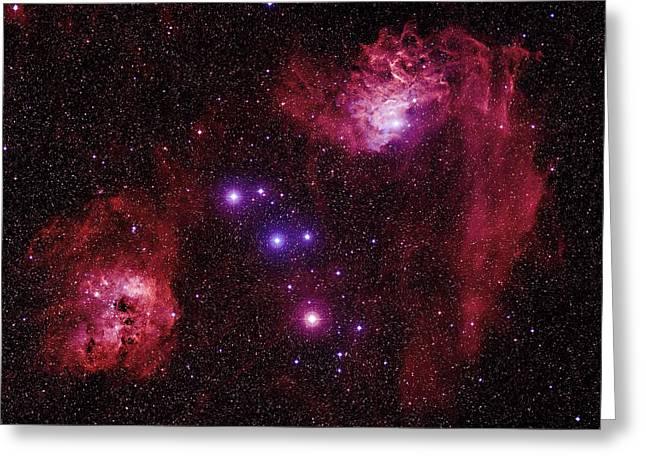 Aurigae Greeting Cards - Emission Nebulae Greeting Card by Celestial Image Co.