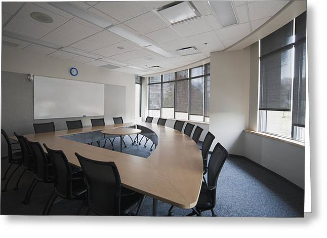 """""""meeting Room"""" Greeting Cards - Empty Boardroom Or Meeting Room In An Greeting Card by Marlene Ford"""