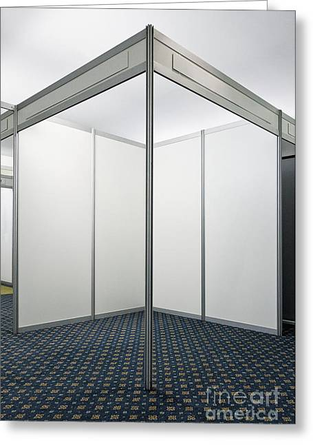 Recently Sold -  - Cubicle Greeting Cards - Empty Exhibition Booth Greeting Card by Jon Boyes