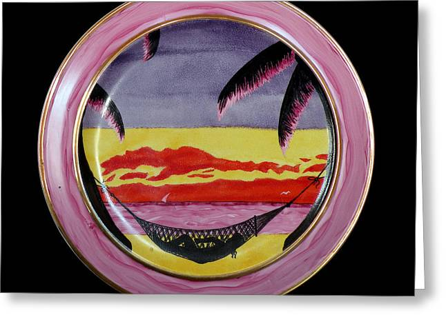 Landscapes Ceramics Greeting Cards - Energy of rest. Greeting Card by Vladimir Shipelyov
