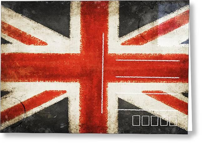 Tears Greeting Cards - England flag postcard Greeting Card by Setsiri Silapasuwanchai