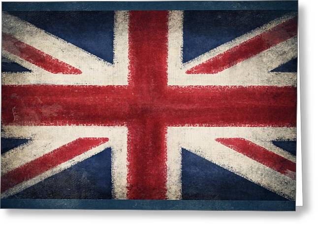 Color Glory Greeting Cards - England flag Greeting Card by Setsiri Silapasuwanchai