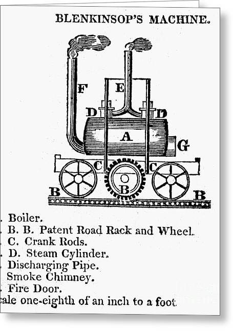 1811 Greeting Cards - England: Locomotive, 1811 Greeting Card by Granger