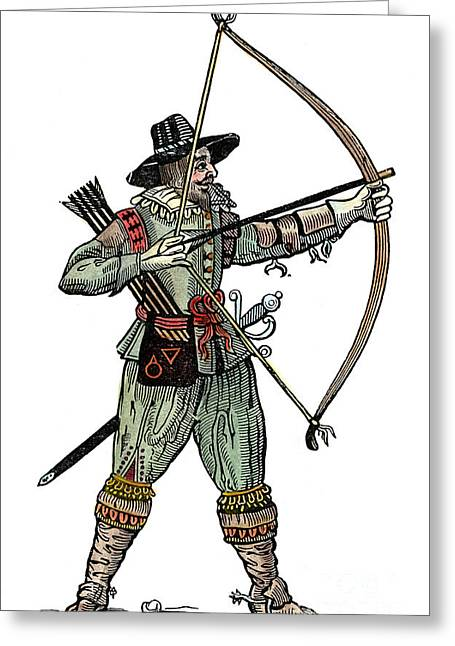 English Archer, 1634 Greeting Card by Granger