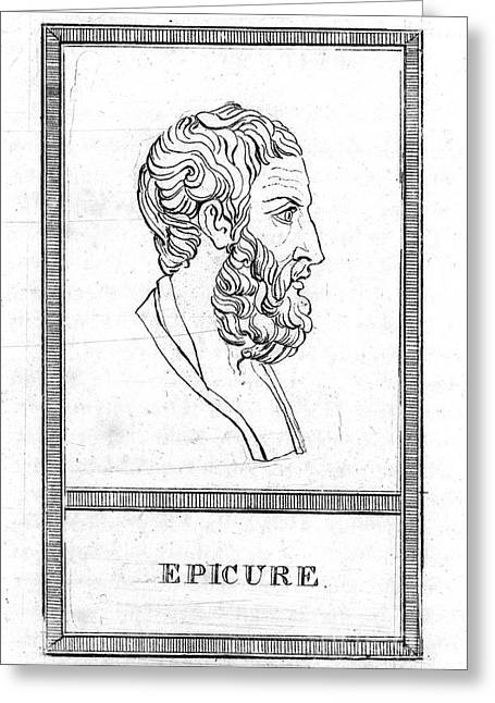 Epicurus Greeting Cards - Epicurus (343?-270 B.c.) Greeting Card by Granger