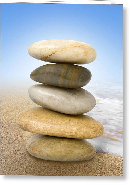 Quietly Greeting Cards - Equilibrium Greeting Card by Marc Huebner