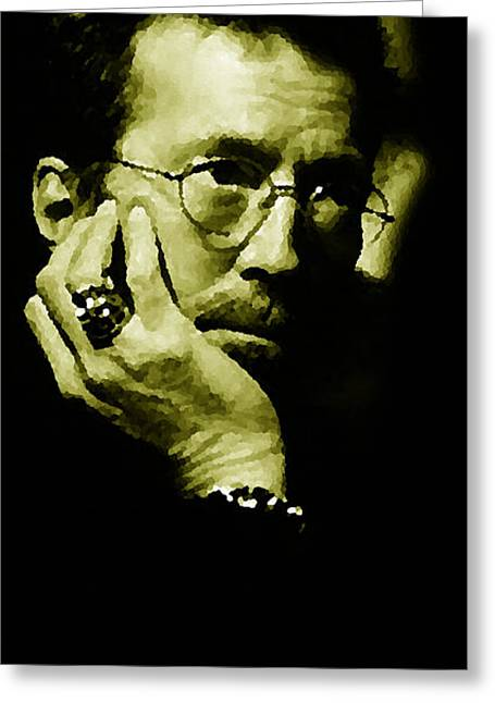Slowhand Greeting Cards - Eric Clapton Greeting Card by Plamen Petkov