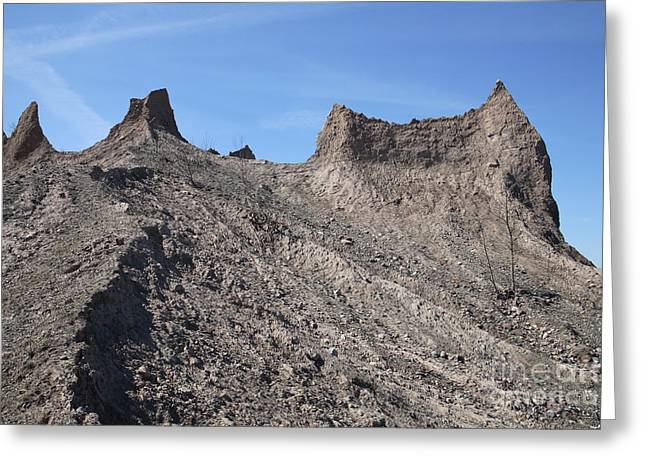 Chimney Rock State Park Greeting Cards - Erosion Of Glacial Drumlin Greeting Card by Ted Kinsman