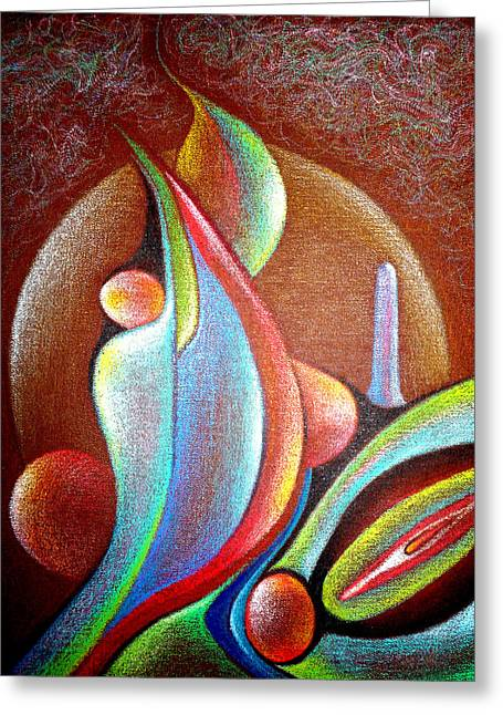 Visionary Artist Greeting Cards - Erotic Zones no.3 Greeting Card by George  Page