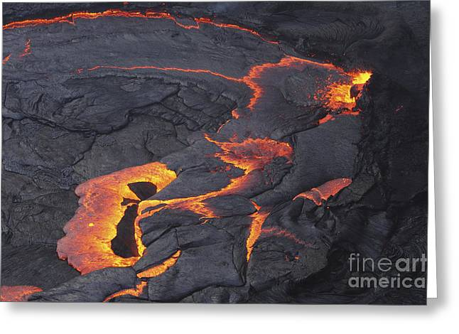 Vulcanology Greeting Cards - Erta Ale Lava Lake, Danakil Depression Greeting Card by Martin Rietze