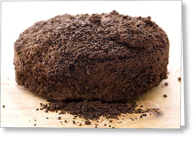 Espresso Coffee Grounds Greeting Card by Frank Tschakert