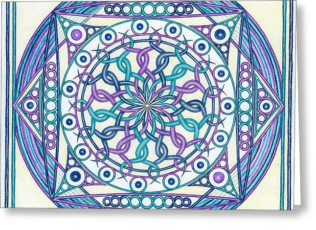 Purple Chakra Greeting Cards - Eternity Mandala Greeting Card by Hakon Soreide