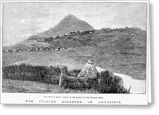 Italian Landscapes Greeting Cards - Ethiopia: Fort At Adowa Greeting Card by Granger