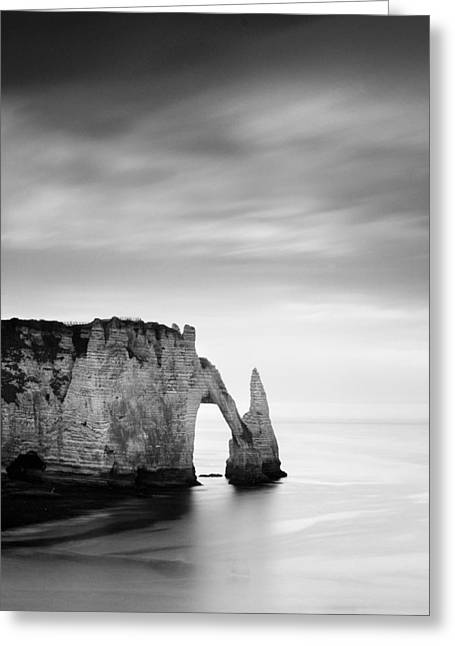 Beach Landscape Greeting Cards - Etretat Greeting Card by Nina Papiorek