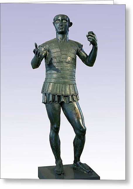 4th Greeting Cards - Etruscan Warrior, Mars Of Todi Greeting Card by Sheila Terry