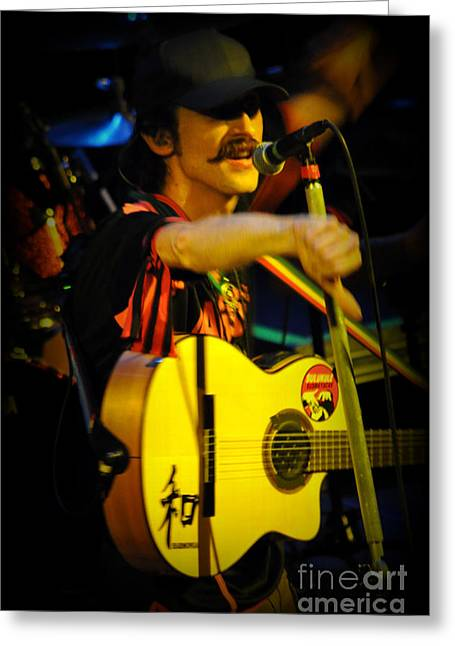 Gypsy Band Greeting Cards - Eugene Hutz of Gogol Bordello. Greeting Card by Anjanette Douglas