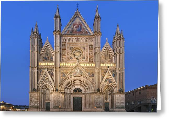 Town Square Greeting Cards - Europe Italy Umbria Orvieto Orvieto Greeting Card by Rob Tilley