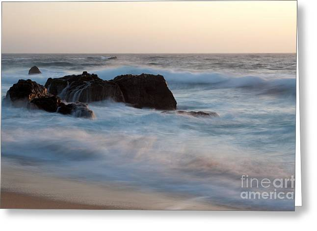 Big Sur Beach Greeting Cards - Evening At Beach 2 Greeting Card by Catherine Lau