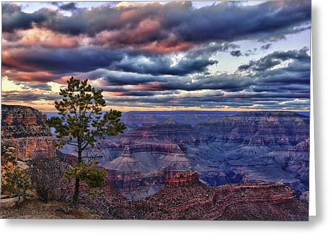 Layered Rock Greeting Cards - Evening Light Greeting Card by Beth Sargent