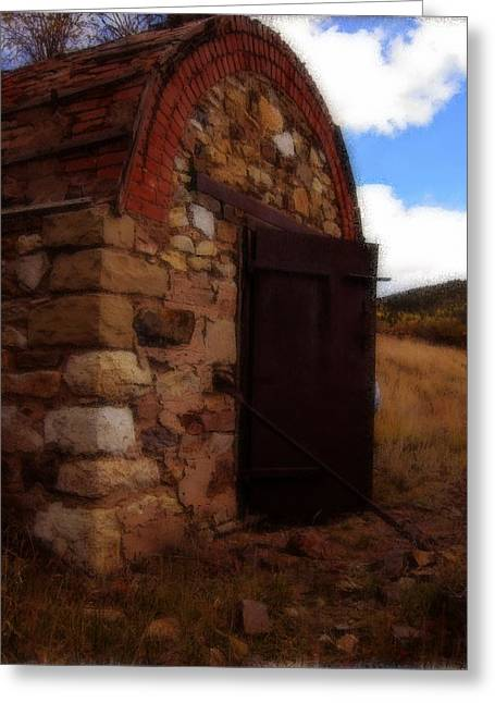 Shed Drawings Greeting Cards - Explosives shed  Greeting Card by Howard Perry