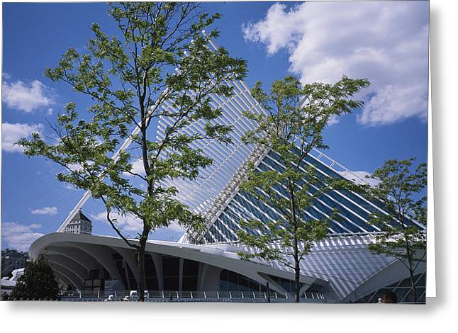 Art Of Building Greeting Cards - Exterior View Of The Quadracci Pavilion Greeting Card by Paul Damien